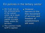 eu policies in the tertiary sector