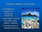 positive effects of tourism