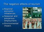 the negative effects of tourism