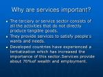 why are services important