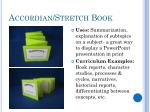 accordian stretch book