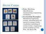 study cards