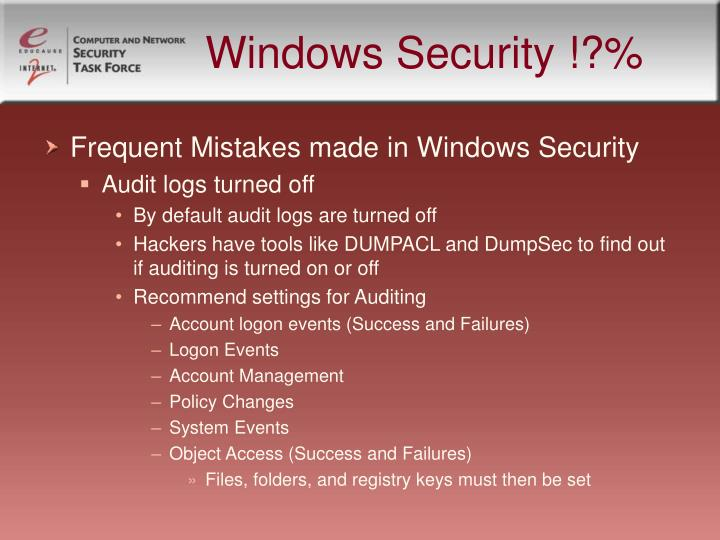 Windows Security !?%
