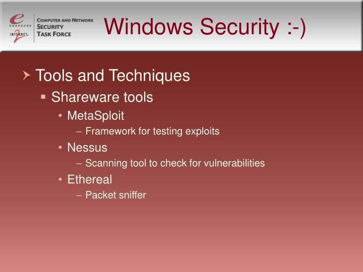 Windows Security :-)