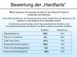 bewertung der hardfacts