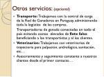 otros servicios opcional