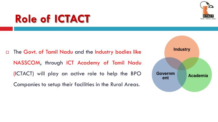 Role of ICTACT