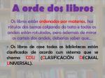a orde dos libros