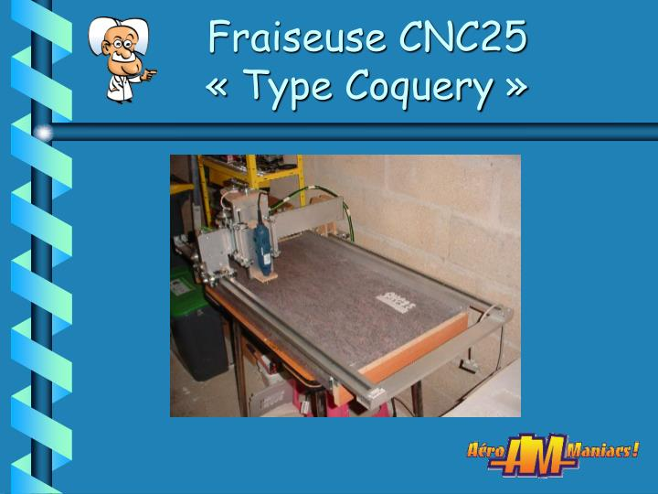 fraiseuse cnc25 type coquery n.