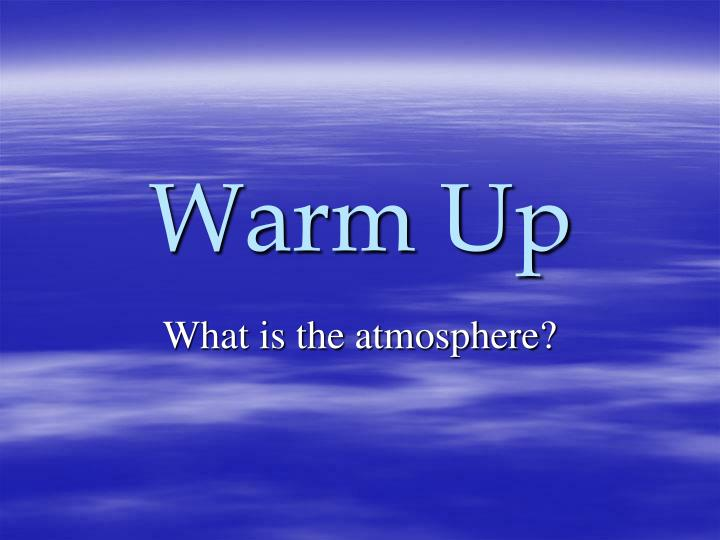 what is the atmosphere n.