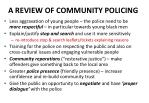 a review of community policing