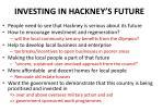 investing in hackney s future