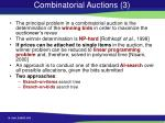 combinatorial auctions 3