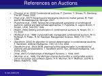 references on auctions
