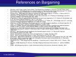 references on bargaining