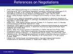 references on negotiations