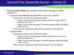 second price sealed bid auction vickrey 3
