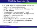 tac scm description 1