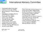 international advisory committee