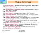 physics committees