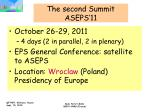 the second summit aseps 11