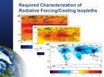 required characterization of radiative forcing cooling isopleths