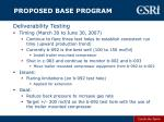 proposed base program