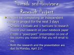 tornado and hurricane research project