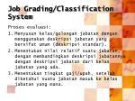 job grading classification system