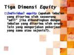 tiga dimensi equity1