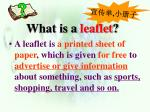 what is a leaflet
