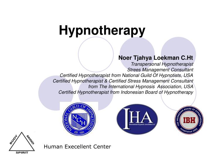 hypnotherapy n.