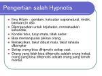 pengertian salah hypnotis