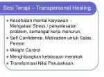sesi terapi transpersonal healing