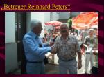 betreuer reinhard peters