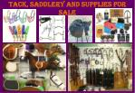 tack saddlery and supplies for sale