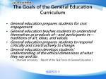 the goals of the general education curriculum
