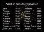 adoption calendrier gr gorien