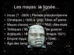 les mayas la lign e