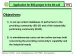 application for ssa project in the 4th call3