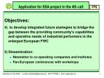 application for ssa project in the 4th call5