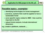 application for ssa project in the 4th call6