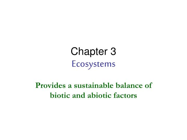 chapter 3 ecosystems n.