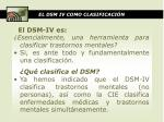 el dsm iv como clasificaci n