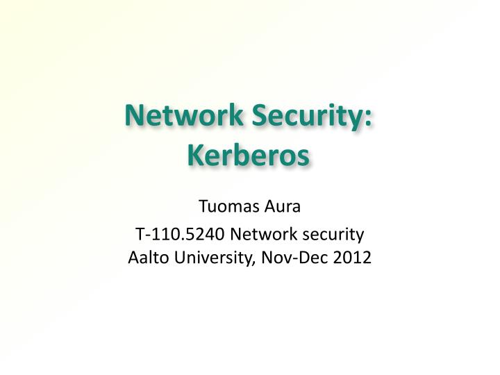 network security kerberos n.