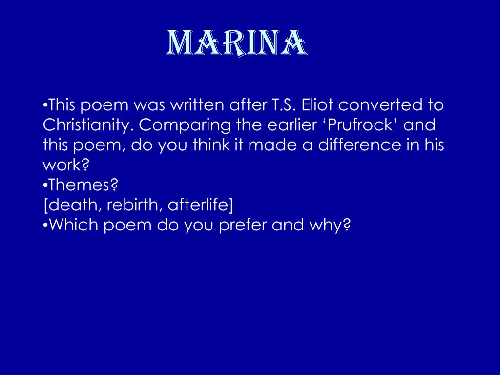 Ppt T S Eliot Powerpoint Presentation Free Download
