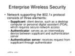 enterprise wireless security