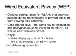 wired equivalent privacy wep