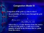 congestion model b1