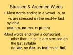 stressed accented words